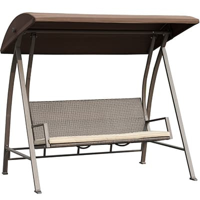 Top 10 Best Patio Swings With Canopies – Closeup Check For Well Known Outdoor Swing Glider Chairs With Powder Coated Steel Frame (View 8 of 20)