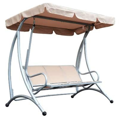 Top 11 Best Patio Swings With Canopy Reviews In 2020 With Regard To Most Recently Released 3 Person Red With Brown Powder Coated Frame Steel Outdoor Swings (View 11 of 20)