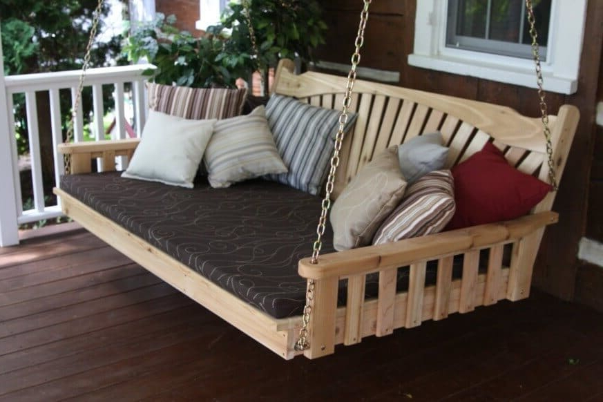 Top 6 Gorgeous Porch Swings To Invest In For Endless Comfort Inside Most Current Patio Hanging Porch Swings (View 5 of 20)