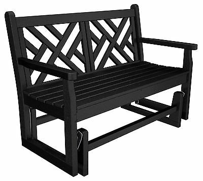 Traditional Glider Benches For Most Up To Date Polywood® Chippendale Glider Bench 4ft Traditional Colors (View 13 of 20)