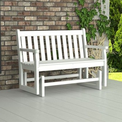 Traditional Glider Benches Within Trendy Polywood Traditional Garden 4ft (View 1 of 20)