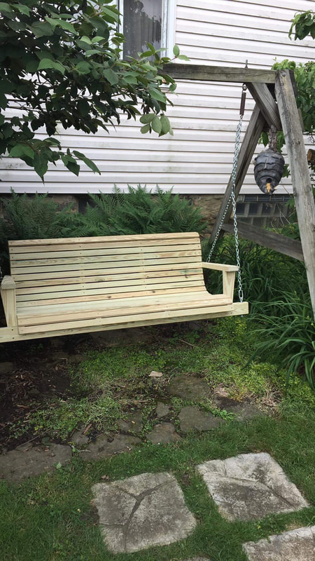 Treated Wood Swings – Davis Porch Swings With Regard To Preferred 5 Ft Cedar Swings With Springs (View 9 of 20)