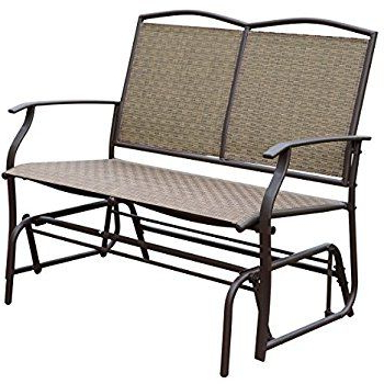 Trendy $75 3 Good Reviews Amazon : Phi Villa Patio Swing Glider With Regard To Outdoor Patio Swing Glider Bench Chair S (View 9 of 20)