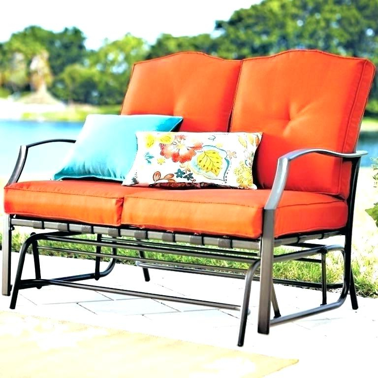 Trendy Cushioned Glider Benches With Cushions Within Patio Glider Cushions – Sigpot (View 9 of 20)