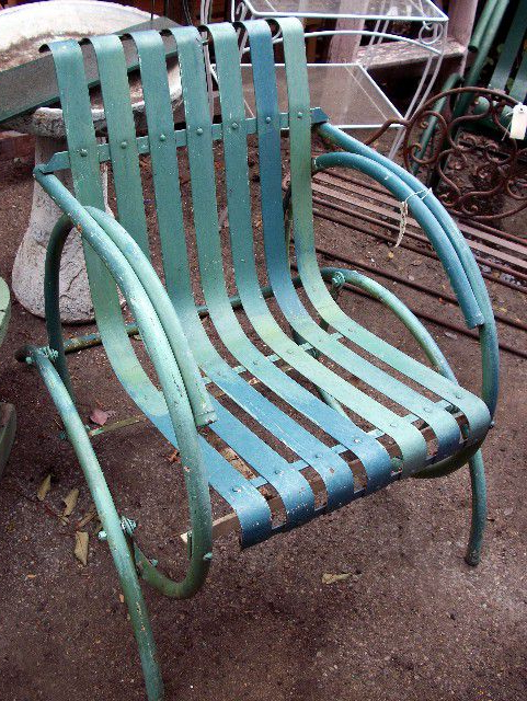 Trendy How To Shop For Vintage Outdoor Furniture For 1 Person Antique Black Steel Outdoor Gliders (View 10 of 20)