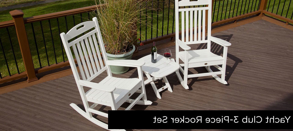Trendy Patio Furniture – Fence & Deck Supply Regarding Outdoor Furniture yacht Club 2 Person Recycled Plastic Outdoor Swings (View 20 of 20)