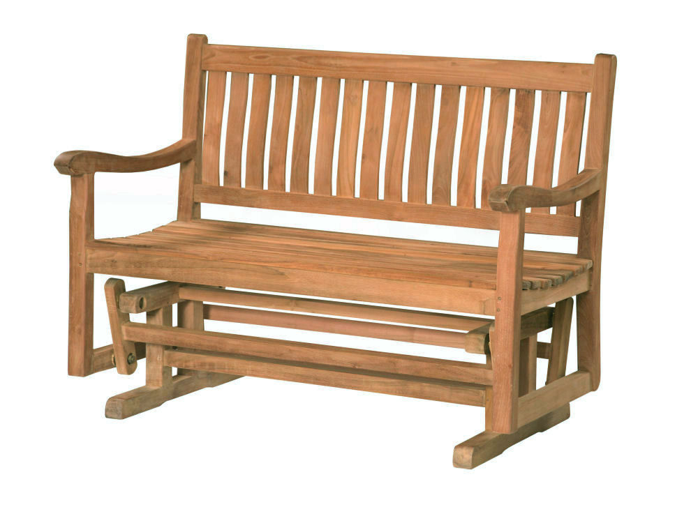 Trendy Teak Glider Benches For Classic 4' Glider Bench – Douglas Nance Teak Wholesale (View 19 of 20)