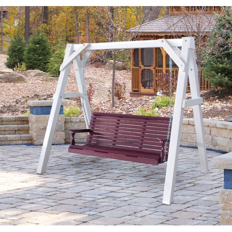 Trendy Vinyl A Frame Swing Stand In Porch Swings With Stand (View 12 of 20)
