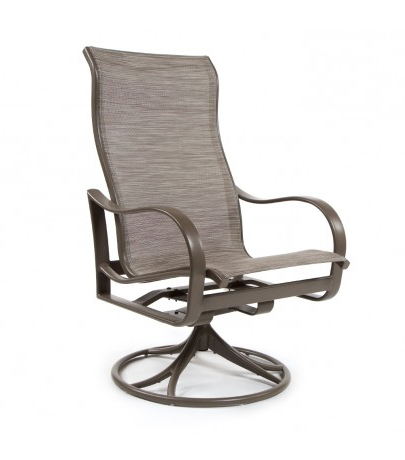 Tropitone Shoreline Sling High Back Swivel Rocker Regarding Most Current Sling High Back Swivel Chairs (View 17 of 20)