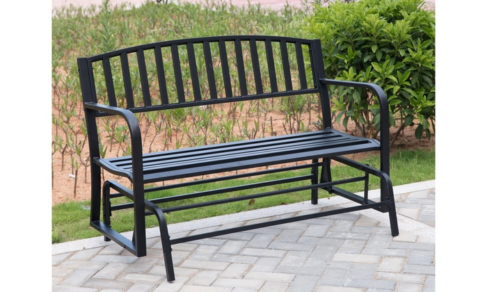 [%up To 23% Off On Black Steel Patio Garden Park | Groupon Pertaining To Favorite Black Steel Patio Swing Glider Benches Powder Coated|black Steel Patio Swing Glider Benches Powder Coated Regarding Famous Up To 23% Off On Black Steel Patio Garden Park | Groupon|most Recently Released Black Steel Patio Swing Glider Benches Powder Coated In Up To 23% Off On Black Steel Patio Garden Park | Groupon|newest Up To 23% Off On Black Steel Patio Garden Park | Groupon Throughout Black Steel Patio Swing Glider Benches Powder Coated%] (View 3 of 20)
