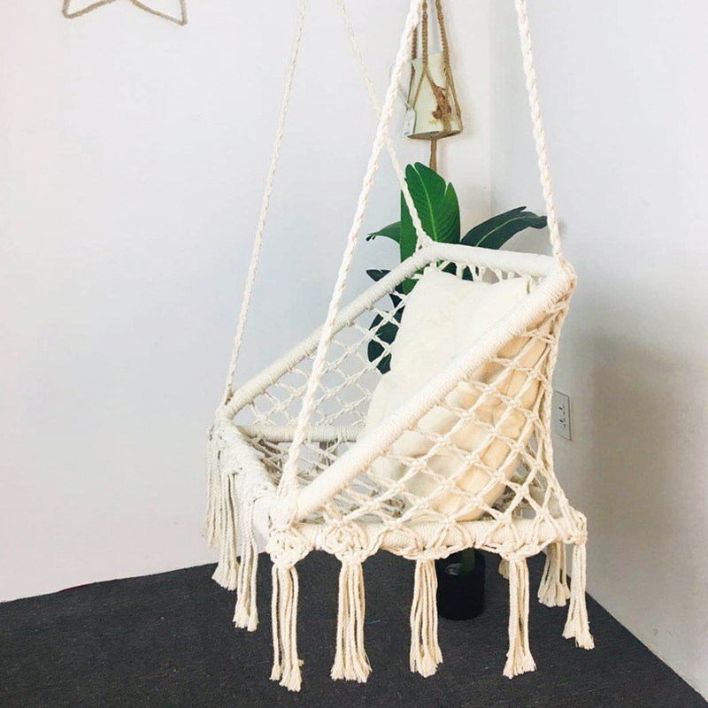 [%us $44.08 37% Off|knitted Macrame Hammock Chair Hanging Cotton Rope Hammock Children Toy Adult Tassel Swing Porch Outdoor Chair Rocking Furniture In Inside Latest Cotton Porch Swings|cotton Porch Swings Inside Most Recent Us $44.08 37% Off|knitted Macrame Hammock Chair Hanging Cotton Rope Hammock Children Toy Adult Tassel Swing Porch Outdoor Chair Rocking Furniture In|newest Cotton Porch Swings Within Us $44.08 37% Off|knitted Macrame Hammock Chair Hanging Cotton Rope Hammock Children Toy Adult Tassel Swing Porch Outdoor Chair Rocking Furniture In|popular Us $ (View 4 of 20)