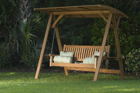 Veranda Swinging Bench With Canopy In 2019 For Latest Teak Porch Swings (View 17 of 20)