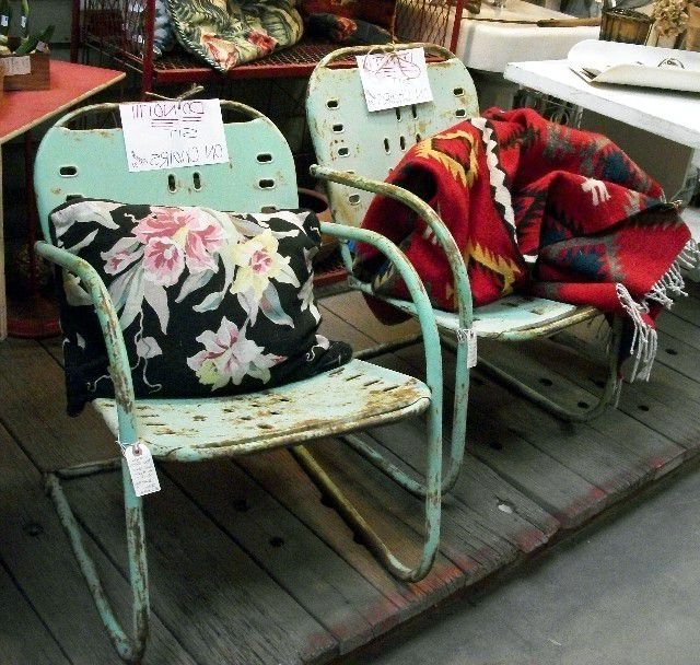 Well Known 2 Person Antique Black Iron Outdoor Swings Throughout How To Shop For Vintage Outdoor Furniture (View 19 of 20)
