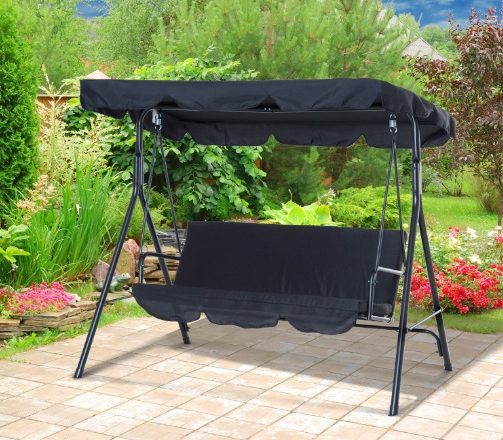 Well Known 6+ Best 2 Seater Outdoor Swing Table & Chairs Reviews 2020 With Regard To 2 Person Black Steel Outdoor Swings (View 17 of 20)