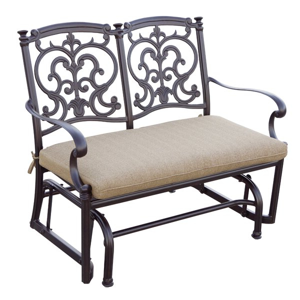 Well Known Aluminum Glider Benches With Cushion In Woodard Brown Aluminum Rocker (View 7 of 20)