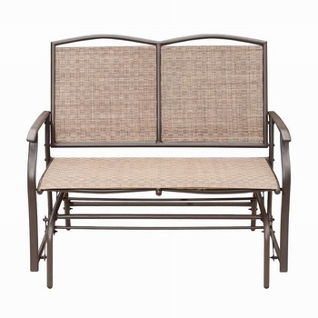 Well Known Aluminum Outdoor Double Glider Benches Inside Hot Sale Porch Sling Aluminum Loveseat Glider/two Seats Double Glider Metal Glider Chair Outdoor – Buy Glider Chair Outdoor,metal Glider Chair,two (View 2 of 20)