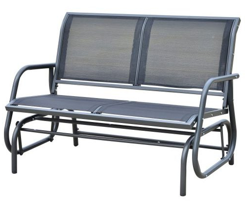 Well Known Black Outdoor Durable Steel Frame Patio Swing Glider Bench Chairs Regarding Top 10 Best Patio Gliders Bench In 2020 – The Genius Review (View 19 of 20)