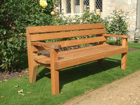 Well Known Garden Bench – 2 Seater With Arms Pertaining To Wood Garden Benches (View 9 of 20)