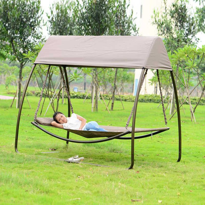 Featured Photo of Garden Leisure Outdoor Hammock Patio Canopy Rocking Chairs
