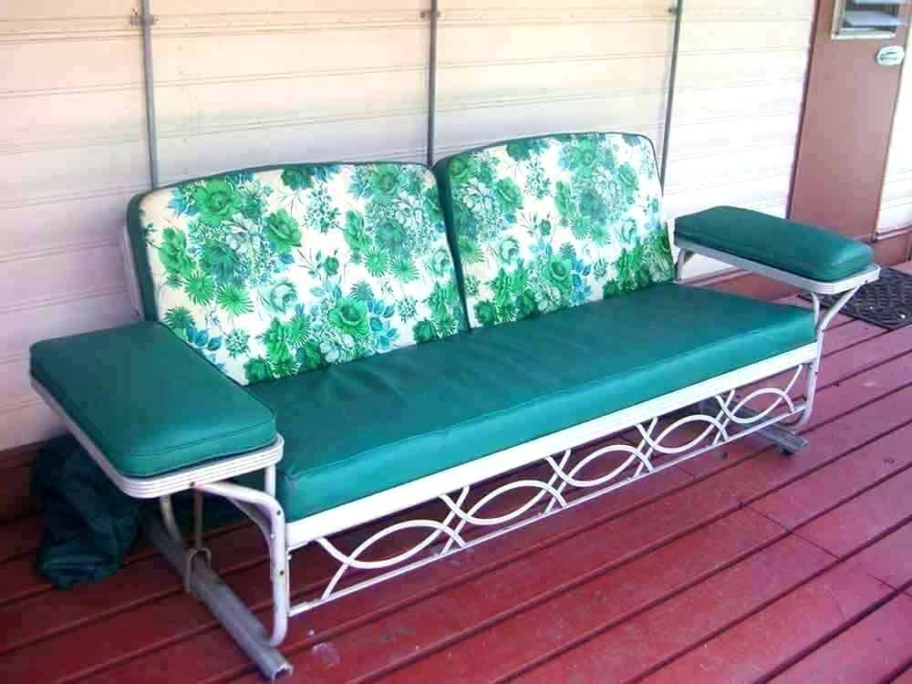 Well Known Likable Outdoor Sofa And Chair Cushions Furniture Surprising In Glider Benches With Cushions (View 10 of 20)