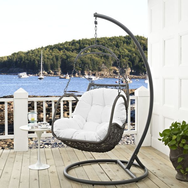 Well Known Outdoor Swing Glider Chairs With Powder Coated Steel Frame With Regard To Made With An Exotic Outdoor Recreation Themed Design, Arbor (View 15 of 20)
