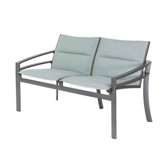 Well Known Padded Sling Loveseats With Cushions For Tropitone Kor Padded Sling Loveseat Outdoor Furniture (View 11 of 20)
