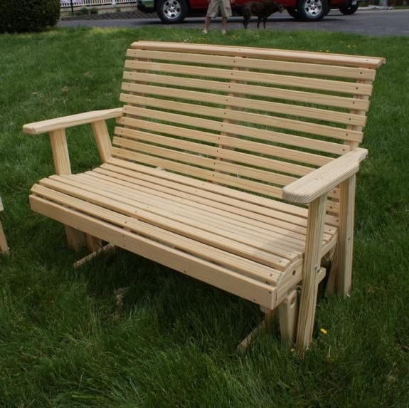 Well Known Wood Seating & Occasionals For Sale In Dayton Cincinnati Ohio With Low Back Glider Benches (View 14 of 20)