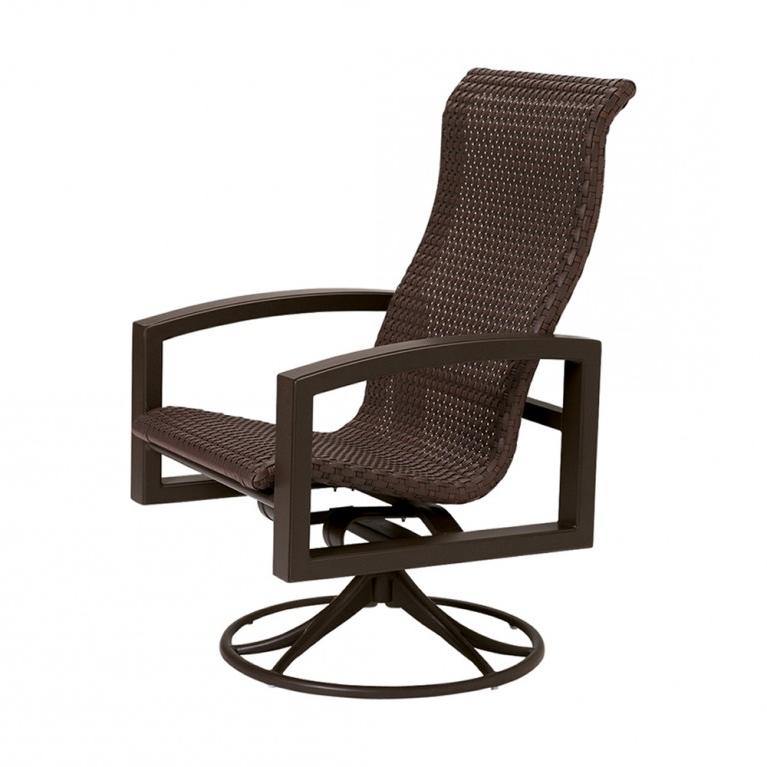 Well Known Woven High Back Swivel Chairs In Tropitone Lakeside Woven Highback Wicker Swivel Rocker (View 4 of 20)