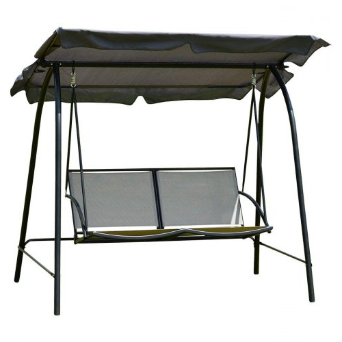 Well Liked 2 Person Gray Steel Outdoor Swings With Regard To Best Patio Swings In 2020 Review (View 10 of 20)