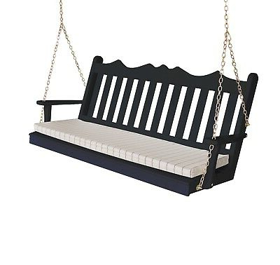 Well Liked 2 Person White Wood Outdoor Swings Regarding Swing Porch Bench Outdoor Garden Furniture Durable (Gallery 17 of 20)