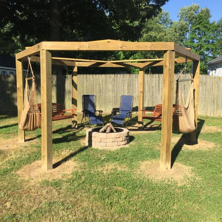 Well Liked A & L Furniture Western Red Cedar Classic Curved Back Pertaining To A4 Ft Cedar Pergola Swings (View 17 of 20)