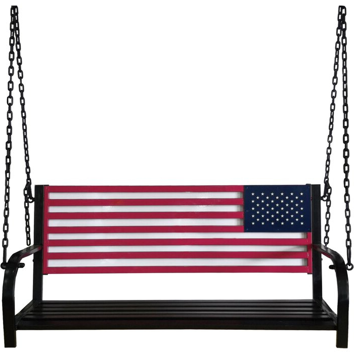 Well Liked American Flag Porch Swings Inside American Flag Porch Swing (View 12 of 20)