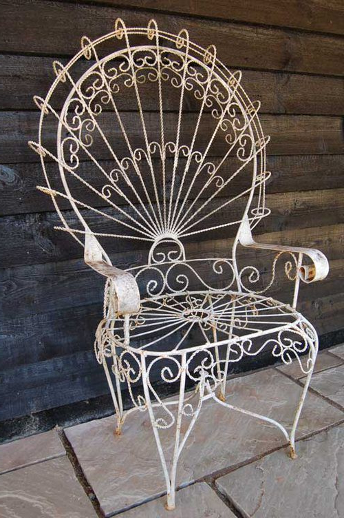 Well Liked Antique Large Wirework Peacock Chair–my Mother Has Two Pertaining To 1 Person Antique Black Iron Outdoor Swings (View 16 of 20)
