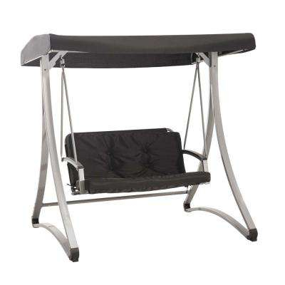 Well Liked Gray – Patio Swings – Patio Chairs – The Home Depot Inside 2 Person Gray Steel Outdoor Swings (View 7 of 20)