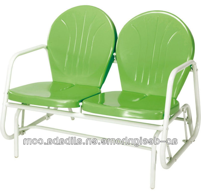 Well Liked Lime Green/white Retro Metal Tulip Double Glider – Buy Lime Green/white Retro Metal Tulip Double Glider,retro Metal Outdoor Chair,metal Glider Chair Intended For Outdoor Retro Metal Double Glider Benches (View 8 of 20)