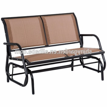 Well Liked Outdoor Patio Swing Glider Benches With Outdoor Swing Glider Chair,patio Bench For 2 Person,garden Rocking Seating – Buy Swing Glider Chair Product On Alibaba (View 6 of 20)