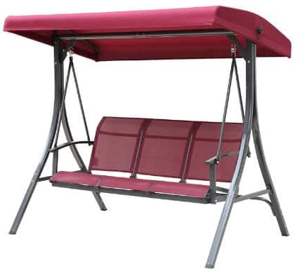 Well Liked Outdoor Swing Glider Chairs With Powder Coated Steel Frame Inside Top 11 Best Patio Swings With Canopy Reviews In (View 5 of 20)
