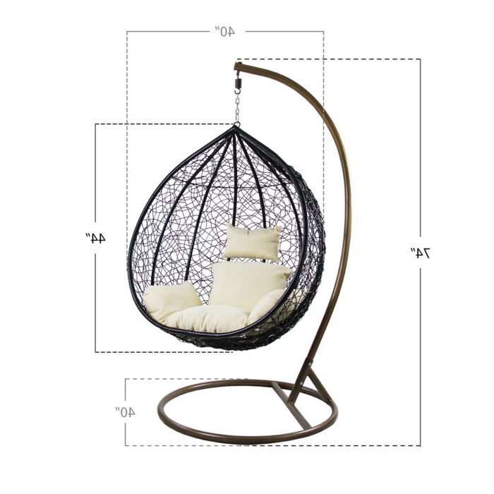 Well Liked Outdoor Wicker Plastic Tear Porch Swings With Stand Regarding Hobbs Outdoor Wicker Plastic Tear Porch Swing With Stand (View 8 of 20)