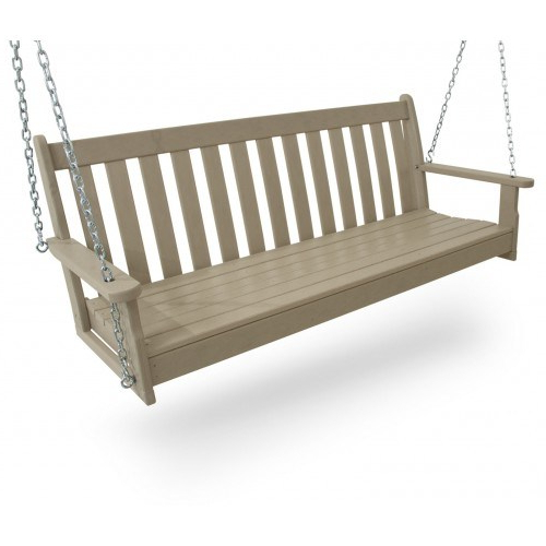 Well Liked Polywood® Vineyard 60 Porch Swing Regarding Outdoor Furniture yacht Club 2 Person Recycled Plastic Outdoor Swings (View 17 of 20)