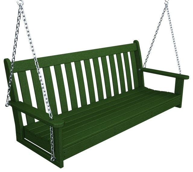 "Well Liked Polywood Vineyard 60"" Swing, Green Inside Vineyard Porch Swings (View 2 of 20)"