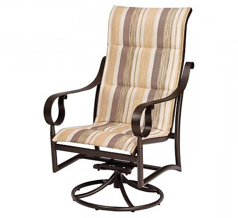 Well Liked Ridgecrest Padded Sling High Back Swivel Rockerwoodard For Padded Sling High Back Swivel Chairs (Gallery 11 of 20)