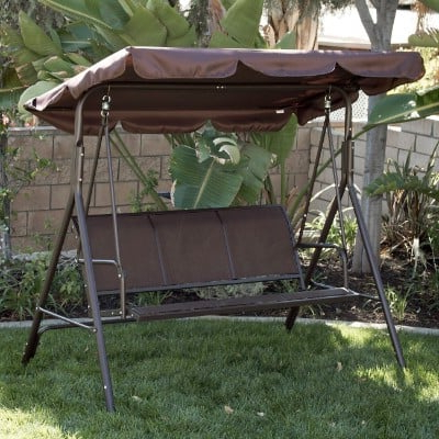 Well Liked Top 11 Best Patio Swings With Canopy Reviews In 2020 With 3 Seats Patio Canopy Swing Gliders Hammock Cushioned Steel Frame (View 17 of 20)