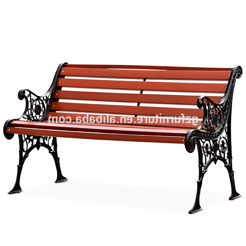 Well Liked Wood Garden Benches With Cast Iron Outdoor Wood Garden Bench Antique Leisure Park Bench With Back  And Metal Legs – Buy Wrought Iron Patio Benches,wrought Iron Garden (View 14 of 20)