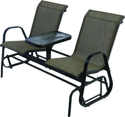 Westfield Outdoor S95 S1384k Double Glider With Console Regarding Preferred Metal Powder Coat Double Seat Glider Benches (View 5 of 20)