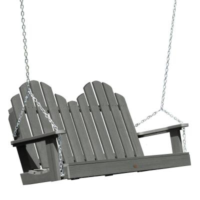 Widely Used 2 Person Gray Steel Outdoor Swings Pertaining To Sunnydaze Decor 2 Person Rattan Patio Outdoor Porch Swing (View 9 of 20)