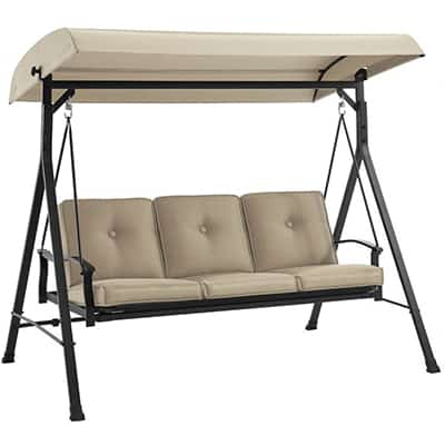 Widely Used 3 Person Outdoor Porch Swings With Stand Inside Top 10 Best Patio Swings With Canopies – Closeup Check (View 15 of 20)