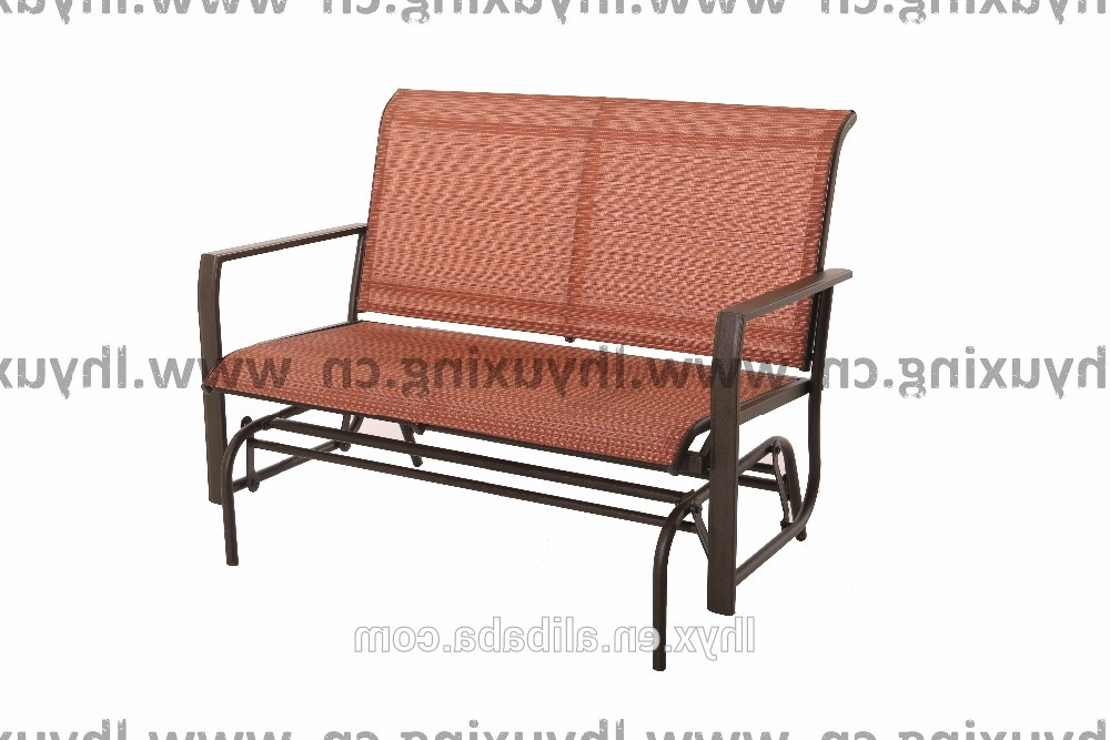 Widely Used Sling Double Glider Benches In Outdoor Double Seat Rocking Sling Glider Chair Kd Design – Buy Rocking Sling Glider,double Seat Glider,outdoor Glider Product On Alibaba (View 17 of 20)