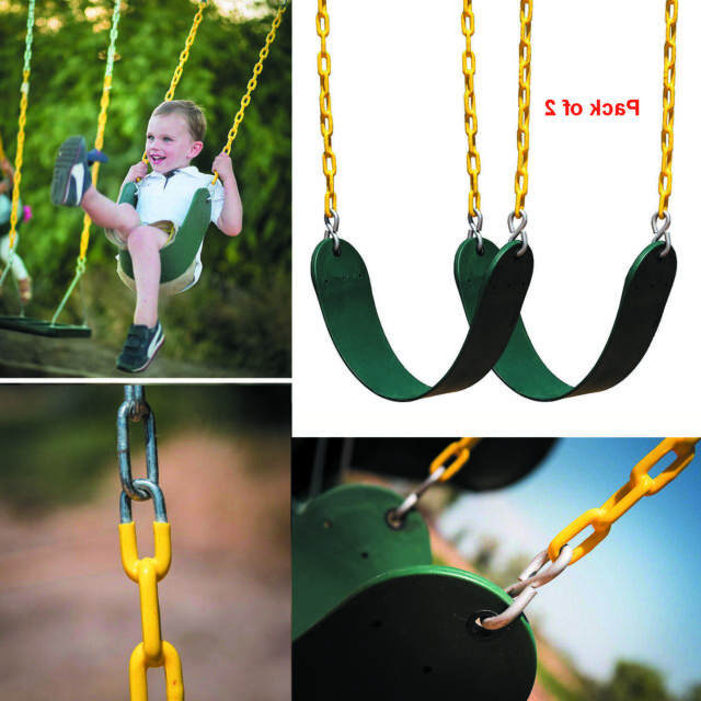 Widely Used Swing Seats With Chains Double 2 Pack Set Durable Heavy Duty Replacement  Chain Regarding Swing Seats With Chains (View 20 of 20)