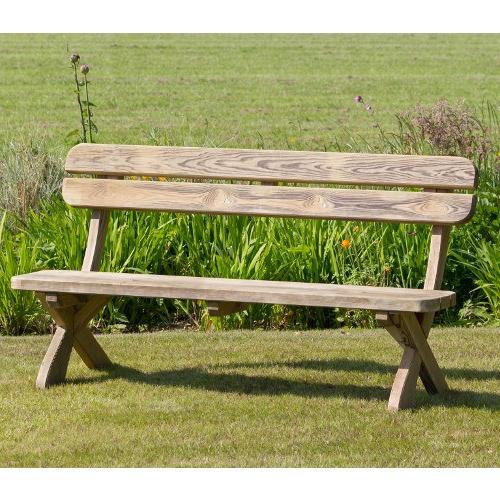 Wood Garden Benches Regarding Preferred Harriet Wooden Garden Benchzest 4 Leisure (View 18 of 20)