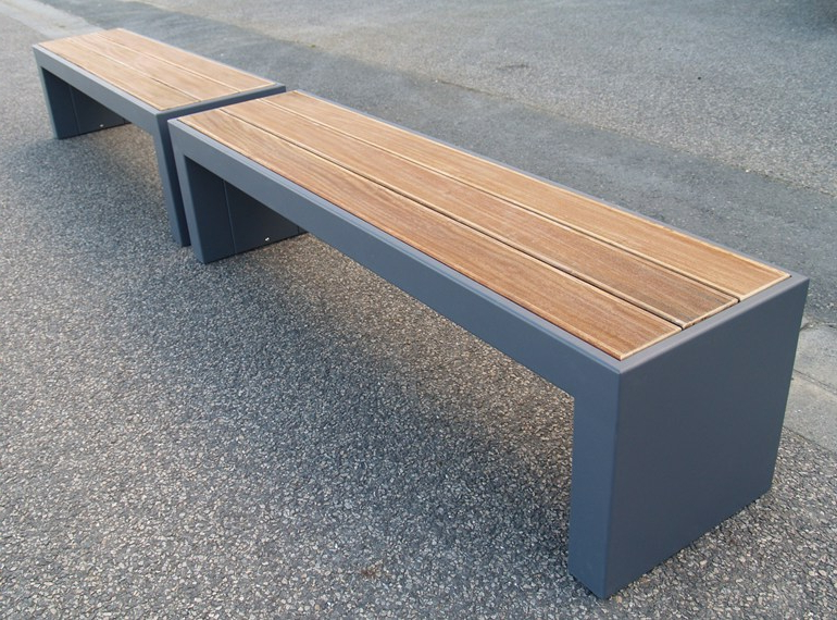 Wood Garden Benches With Regard To 2020 Modular Steel And Wood Garden Bench Steelabimage'in (View 11 of 20)